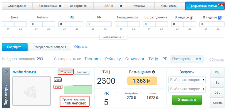 Трафиковые статьи WebArtex для максимально естественного продвижения